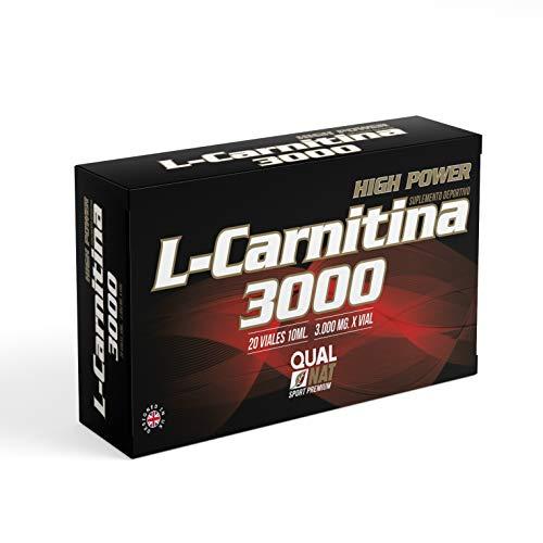 L Carnitina 3000-20 viales | Líquida | L-carnitina Con Vitamina C | Quemagrasas
