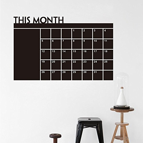 """Home-organizer Tech Chalkboard Wall Calendar - Weekly and Monthly Organizer, To Do List Planner,24""""x 39"""""""
