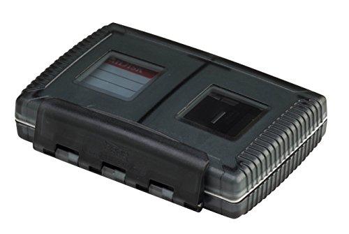 Gepe 3861 Card Safe Extreme Schutzbehälter, 4 Fächer für verschiedenen Karten, Onyx - Gepe Gepe Card Safe