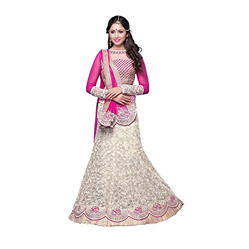 Attire Design Women\'s Party Wear Net Full Enbroidery Work Lehenga Chaniya Choli (Side_Rani_Free Size)
