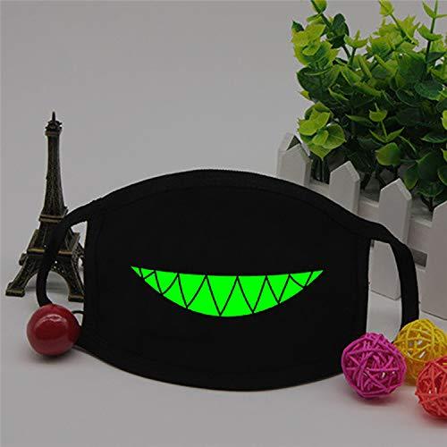 Luminous Cotton Mundmaske Licht in der Dunkelheit Anti Staub wärmen kühle Unisex Zähne Respirator Noctilucent Maske Z4,5