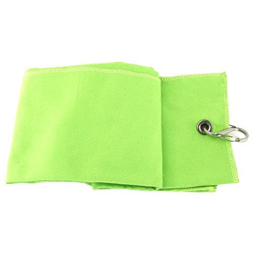 Portable Tri-plis Douce Serviette de Golf 40 * 65cm Vert
