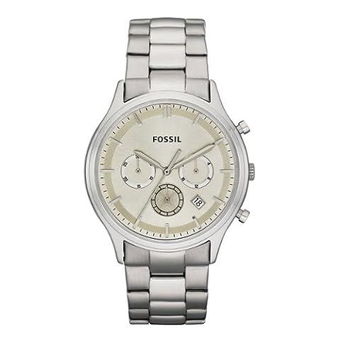 Fossil Herren-Armbanduhr XL Dress Analog Edelstahl FS4669