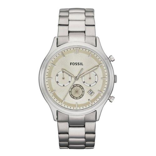 Fossil Herren-Armbanduhr XL Dress Analog Edelstahl FS4669 (Schwarz Stahl Armbanduhr Fossil)