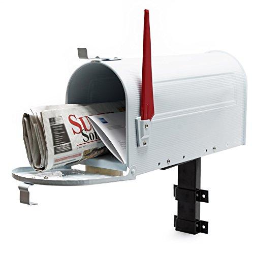 Cassetta postale americana us mailbox con supporto a parete - bianco