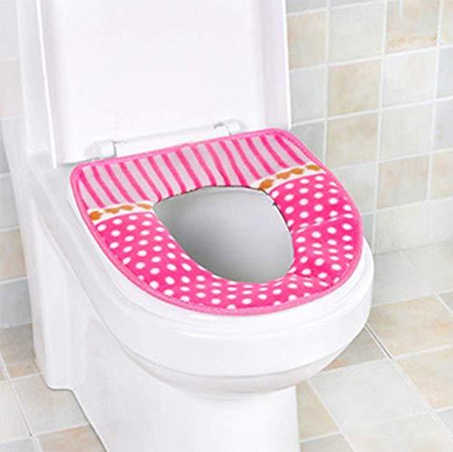 xfyxl Toilettensitz wasserdichte Haushaltspaste Schnalle Toilettenring Universeller Verdickungspunkt Warmes Toilettensitzkissen