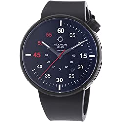 Meccaniche Veloci Quattro Valvole 3 Hand Men's Automatic Watch with Black Dial Analogue Display and Black Rubber Strap W127K280497025