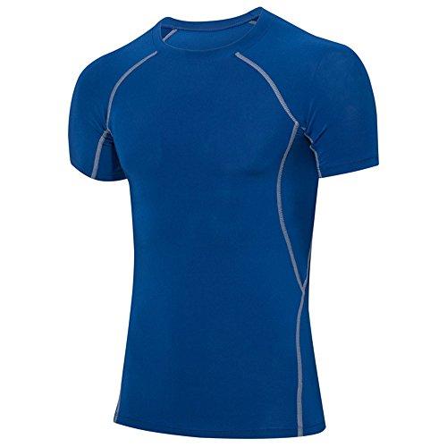 ression Base Layer Ringerrücken Oberteil Laufen Fitness Funktions Shirt Short Sleeve Rundhalsausschnitt Fitness Top 1018 ()