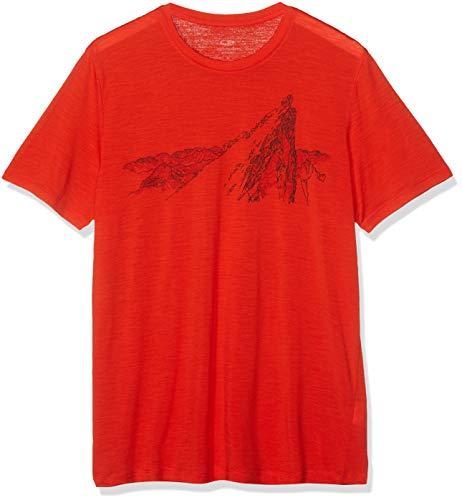 Icebreaker Herren Mens Tech Lite SS Crewe La Meije T-Shirt, Chili Red, L -