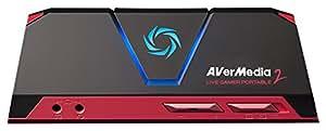 AVerMedia Live Gamer Portable 2 (LGP 2)  - Lanciati su YouTube e Twitch - Trasmetti in streaming, registra e condividi le tue sessioni di gioco su PS4, Xbox One, Wii U, Nintendo Switch, in HD fino a 1080p60 (GC510)