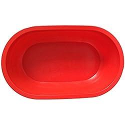 Tina de Baño plástica del Perro, Tina de Baño del Perro del Gato del Animal doméstico, Piscina del Animal doméstico Interior y al Aire Libre, 103 * 62.5 * 26.5cm, Rojo