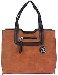Fur Jaden Tan Oversized Office Tote Handbag For Women