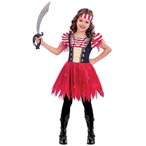Piratin der Weltmeere - Piratin Pirat Kostüm Kinder Mädchen (Schatz Des Meeres Kostüme)