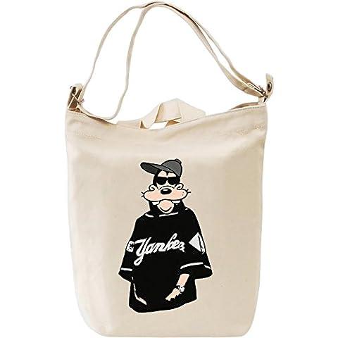Yankees Goofy Bolsa de mano Día Canvas Day Bag  100% Premium Cotton Canvas  DTG Printing 
