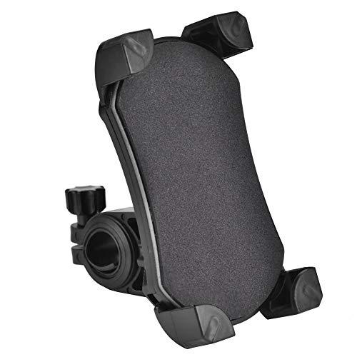 Haofy Soporte para Teléfono para Bicicleta, Abrazadera de Horquilla Universal para Teléfono Celular de 3.5-6.5 Pulgadas, GPS para Navegación, Otros Dispositivos (Negro)