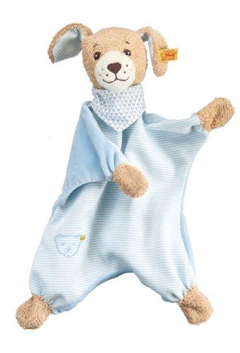 Steiff 239694 - Gute Nacht Hund Schmusetuch, 30 cm, blau