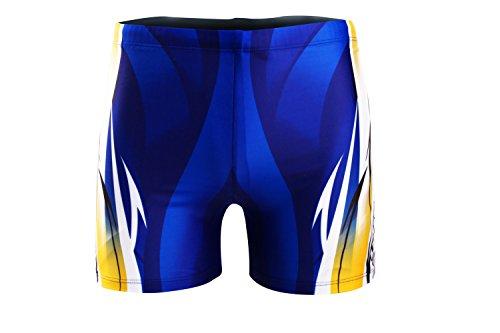 Demarkt Summer Homme Shorts De Bain Boy's Maillot De Bain Beach Surf Swimwear Sport de Plein Air Taille Asiatique Bleu24