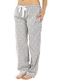 PajamaMania Pantalon de Pyjama Vêtement de Nuit en Flanelle pour Femmes