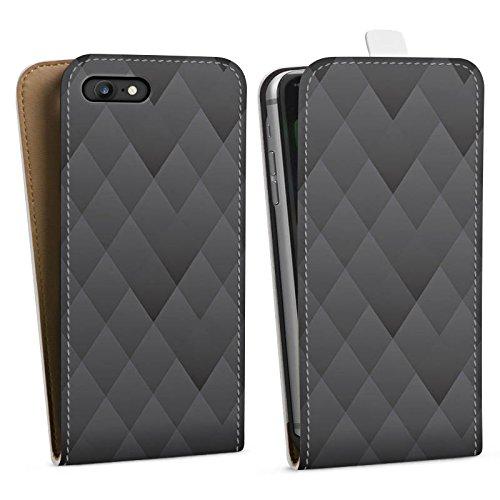 Apple iPhone X Silikon Hülle Case Schutzhülle Anthrazit Modern Muster Downflip Tasche weiß