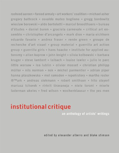 Institutional Critique (The MIT Press) por Alexander Alberro