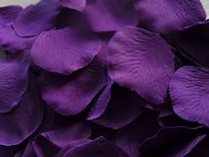 100 QUALITY CADBURY PURPLE SILK QUALITY ROSE PETALS CONFETTI/WEDDING{NOT PRESSED PETALS)