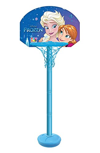 Disney Plastic Frozen Adjustable Shooting Champ Basketball Set for Kids (Multicolour, 8.9060544679e+012)