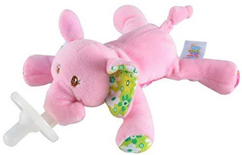 Happy Cherry - Bebés Recien Nacidos Chupete con Peluche Animal de Juguete Lindo Infant Pacifier - Elefante Niñas