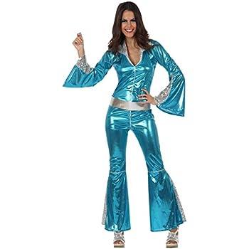Atosa 10390 - Costume - Déguisement Femme Disco Bleu - Taille 1
