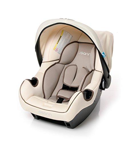 Osann Babyschale Babytrage Kinderautositz BeONE SP deluxe Fossil beige, 0 bis 13 kg, ECE Gruppe 0 +, von Geburt bis ca. 15 Monate, mit Verdeck