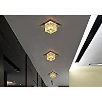 Colorful LED Square Aisle Lights Lamp Ceiling Lamp Foyer Light Room Crystal Ceiling Lamp Voltage 220V , Red