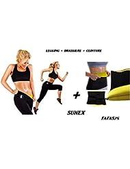 Panty Shaper de sudation + Brassière + Ceinture Sunex Taille XXL