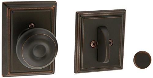 Schlage Lock Company f94geo716add Aged Bronze georgischen Knob Dummy Innen Pack mit Riegel Cover Teller und Deko Addison Rose -