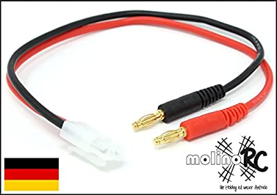 Akku-Ladekabel kompatibel mit Tamiya, 1.5 mm², 30 cm, Bananenstecker, molinoRC von molinoRC