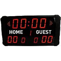 Marcador electrónico, LED y digital para baloncesto, béisbol, multideporte, de GANXIN