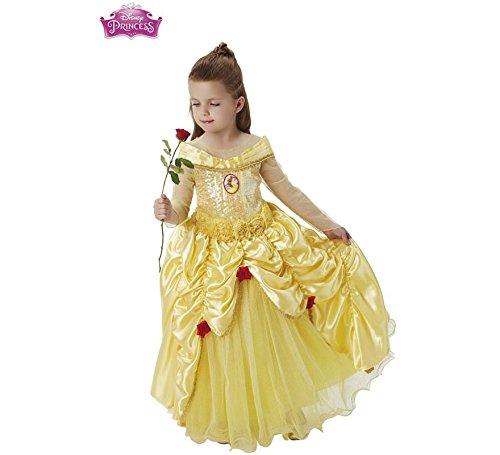 Princesas Disney - Disfraz de Bella Premium para niña, infantil 3-4 años (Rubie's 620473-S)