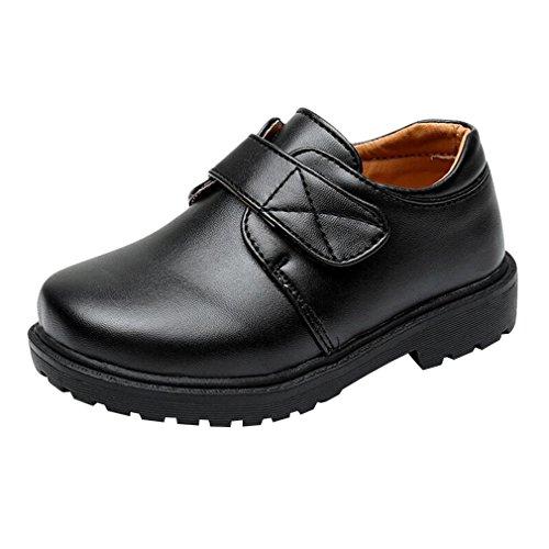 Junkai Zapatos para niños - Negro, Escuela, Formal, Fiesta, Zapatos de Vestir para niños niñas ...