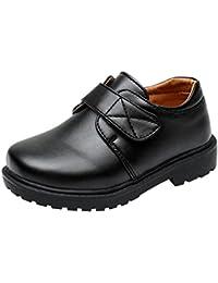 hibote Zapatos Oxford para Niño - Zapatos de Vestir Formales de Fiesta de la Escuela Negra para Niños Unisex - 18062606
