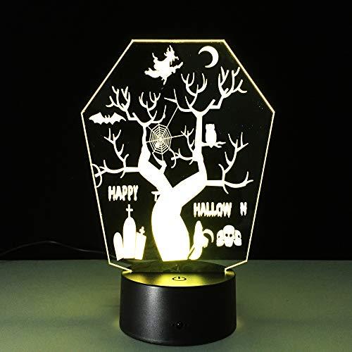 3d illusion lampada 7 colori che cambiano led acrilico luce notturna lights room decorazione della casa caricatore usb,belli regali compleanno,vacanza,san valentino,albero di halloween colorato