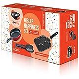 Nirlep by Bajaj Electricals 3-Piece Non-Stick Breakfast Gift Set (Multi Snack Maker 2.2 mm, Sandwich Griller 2 mm & 2 Minute Fry Pan 16 cm Diameter)