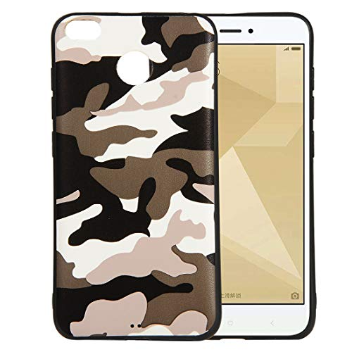 bel mit Xiaomi Redmi 4X, Wasserdicht Stoßfest Outdoor Handy Case [Tarnung Design] Camouflage-Handyhülle Silikon Handyhülle TPU Bumper Cover Schutzhülle - A#Weiß ()