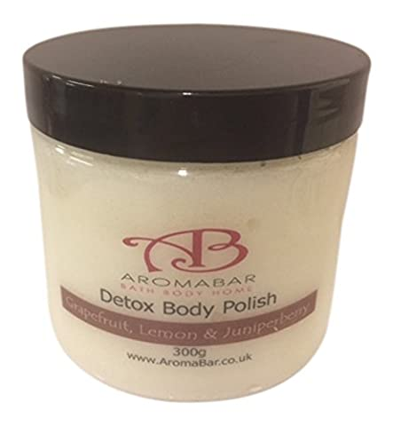 Detox Dead Sea Salt & Shea Butter Body Polish Scrub 300g Contains detoxing Grapefruit, Lemon and Juniperberry Pure Essential Oils Paraben Free 100% Natural product packed with minerals and moisturising oils - Lucido Limone