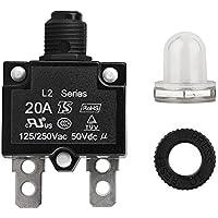 Picturer7 - Panel de Interruptor de Circuito Impermeable, 5 A/10 A/15 A/20 A/30 Amp, reseteable, Circuito térmico, Panel de Interruptor de Aire para la protección de los Elementos, 10a