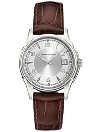 Hamilton Jazzmaster Gent- Reloj de pulsera de cuarzo, para hombre, acero inoxidable, color plata