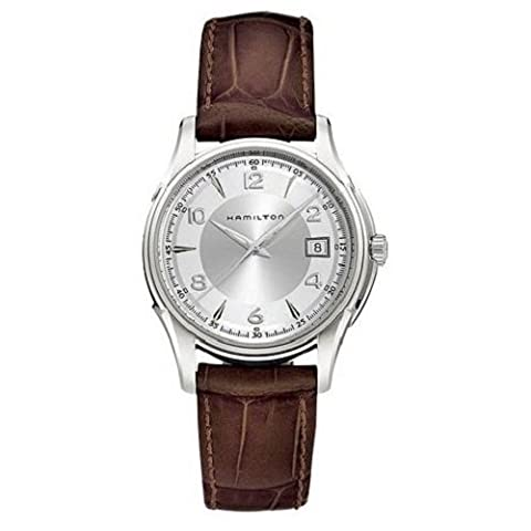 Hamilton Men's Quartz Watch Analogue Display and Brown Leather Strap