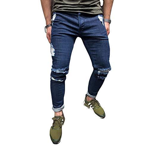 Somesun moda uomo pantalone jogging sportivo a maniche lunghe in morbido allentato righe slim fit stretti alla caviglia elasticizzati larghi lavoro elegante invernali utility (blu scuro-2, s)