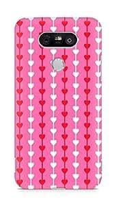 Amez designer printed 3d premium high quality back case cover for LG G5 (Heart Pattern8)