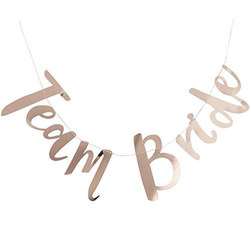 Ginger Ray Team Braut Classy Rose Gold Hen Party Hintergrund Banner Dekoration–Team Braut