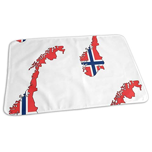 Norwegian Flag Overlay Large, Baby Portable Reusable Changing Pad Mat 19.7