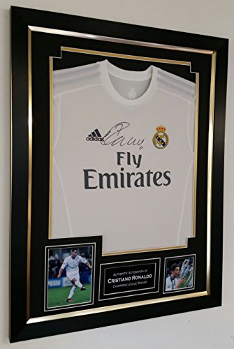 Cristiano-Ronaldo-Signed-and-Framed-Real-Madrid-shirt-AFTAL-DEALER