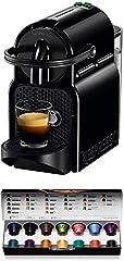 Idea Regalo - Nespresso Inissia EN80.B Macchina per caffè Espresso, 1260 W, 1 Cups, Plastica, Nero (Black)